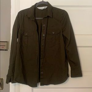 Old Navy army green button up